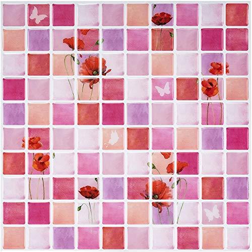 Ecoart Decorativos Adhesivos para Azulejos Pegatina de Pared, Azulejos de Gel, Diseño de Mosaico de...
