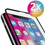 iPhone XS / X Panzerglas 9H Premium Frame Line  NEUE VERSION volle randlose Abdeckung  mit Schablone Rahmen  f�r Apple iPhone XS/X iPhone 10 Bild