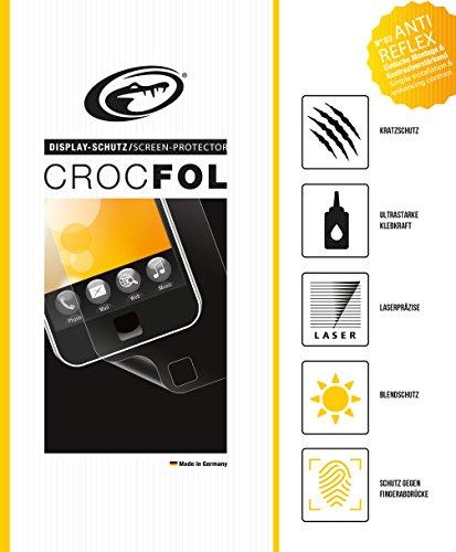 CROCFOL ANTIREFLEX 5K HD Schutzfolie für das Samsung SGH-N500. Entspiegelnd (ANTI-GLARE) und Schutz gegen Fingerabdrücke (ANTI-FINGERPRINT). 3D Touch Folie für das Original Samsung SGH-N500. Hergestellt in Deutschland.