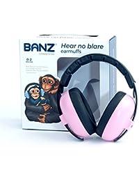 BANZ BABY BUBZEE EARMUFFS, Protector acustico con almohadillas para bebés de 0 a 2 años.