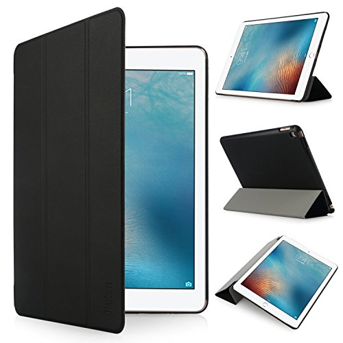 iHarbort Apple iPad Pro 9.7 Case - Multi-Angles Smart Cover Holder Stand Leather Case for Apple iPad Pro 9.7, With Sleep/ Wake Up Function (iPad Pro 9.7, Black)