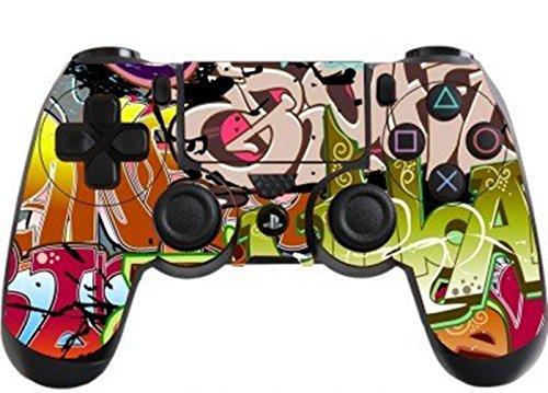 Stillshine PS4 Controller Vinyl Skin Diseñador Piel Pegatina para Sony PlayStation 4 PS4 Slim PS4 Pro DualShock mando inalámbrico x 1 (Colorful Graffiti)