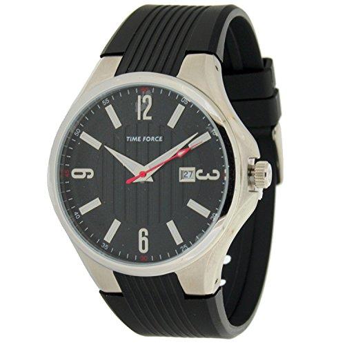 Time Force Tf4053m01-10 Reloj Analogico para Hombre Caja De Acero Inoxidable Esfera Color Negro