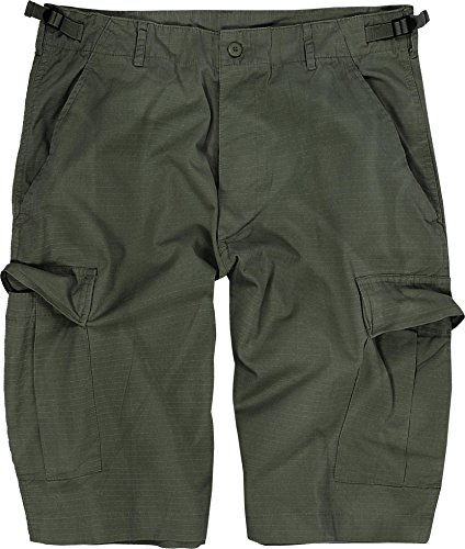 normani US Bermuda Shorts aus Ripstop-Gewebe (Baumwolle) [XS-4XL] Farbe Oliv Größe L