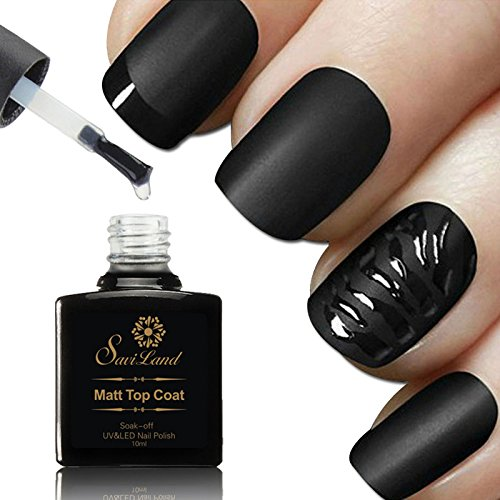 Esmalte de uñas mate de capa superior, Saviland no se seca con un paño húmedo UV LED Gel Polish DIY Nail Art 10 ml