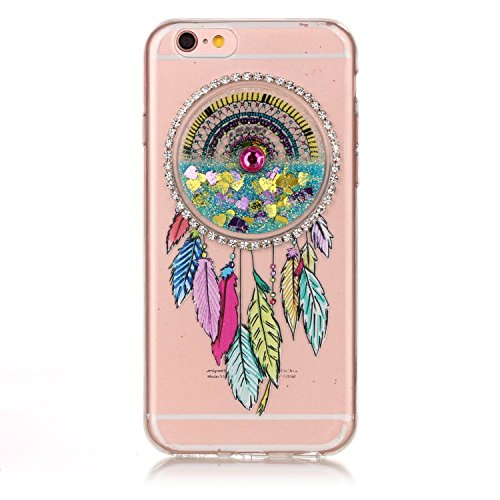 iPhone 6 Plus 5.5 Coque, Voguecase TPU avec Absorption de Choc, Etui Silicone Souple Transparent, Légère / Ajustement Parfait Coque Shell Housse Cover pour Apple iPhone 6 Plus/6S Plus 5.5 (Quicksand d Quicksand dreamcatcher-Bleu
