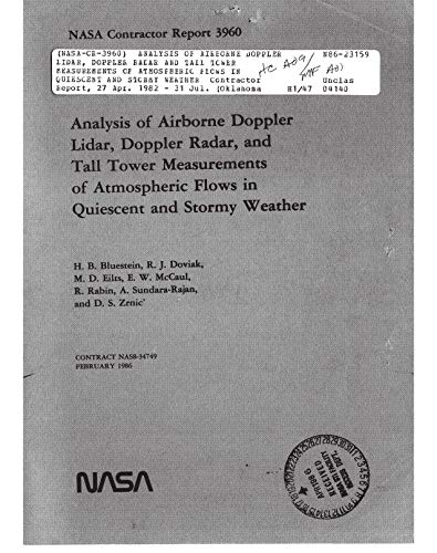 Analysis of airborne Doppler lidar, Doppler radar and tall tower measurements of atmospheric flows in quiescent and stormy weather (English Edition) Radar Tower