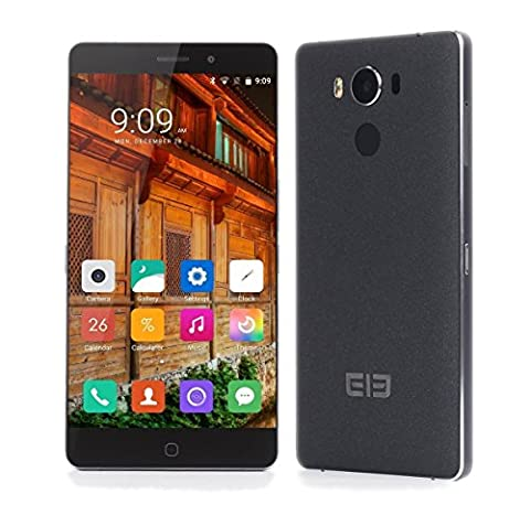 [Boutique officielle] Elephone P9000 - Android 6.0 Smartphones et téléphones portables débloqués ( (MTK6755 Helio P10 2.0 GHz 4Go RAM 32GB ROM 5.5 pouces de recharge sans fil) - Noir - 6/0 Chiave