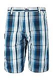 Mountain Warehouse Pantalon Court Homme Sportif Confortable Été Randonnée Marche Coton à Carreaux Gris FR 48 (EU 38)