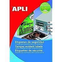 Apli 011272480etiquetas de seguridad láser/copiadora, 45,7x 21,2mm, color blanco