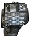 Petex 63210 Gummifußmatten 4-teilig schwarz (vorn + 1. Sitzreihe)