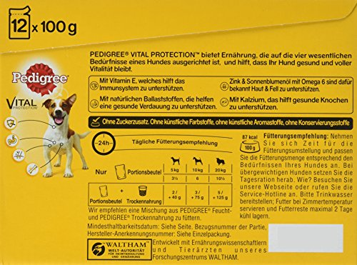 Pedigree Hundefutter in Sauce, 48 Beutel (4 x 12 x 100 g) - 6