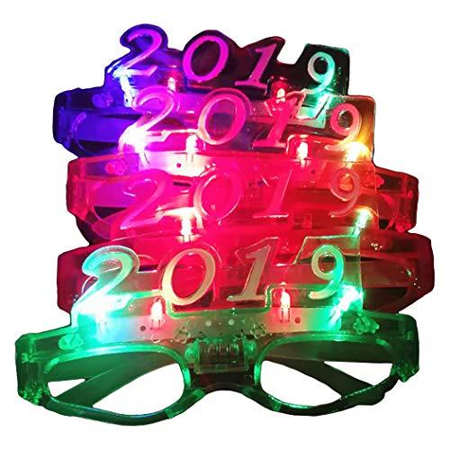 Zoylink 5 Paar Party Brille LED Lustige Brille Party Bevorzugt Brille für das Neue Jahr
