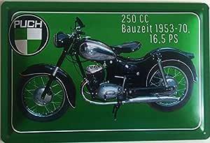 Deko7 Blechschild 30 X 20 Cm Puch 250 Cc 16 5 Ps Baujahr 1953 1970 Küche Haushalt