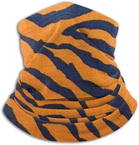 Winter NeckFace Maske Zebra Skin Animal Print Wendbares Ohrstirnband Ultimative thermische Retention Vielseitigkeit, für Herren Schwarz