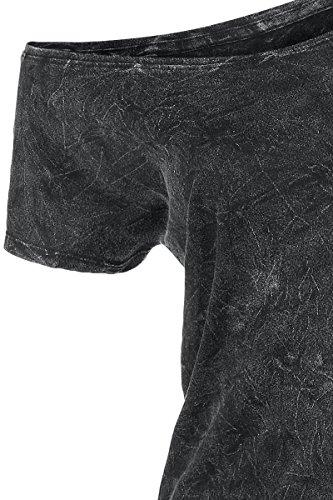 R.E.D. by EMP Vintage Shirt Maglia donna grigio Nero