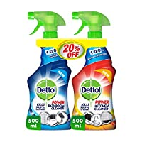 Dettol Orange Power Kitchen Cleaner Spray & Power Bathroom Cleaner, 500 ml + 500 ml