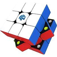 GAN 356 M, 3x3 Cube de Vitesse Magnétique Stickerless Gan356M Cube Magique Cadeau (Version Allégée 2020)
