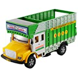 Centy Public Truck Miniature Pull Back Action Toy (Yellow - Green)