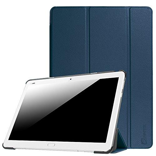 Fintie Huawei Mediapad M3 Lite 10 Hülle - Ultra Dünn Superleicht SlimShell Case Cover Schutzhülle Etui Tasche mit Zwei Einstellbarem Standfunktion für Huawei Mediapad M3 Lite 10 Zoll, Marineblau