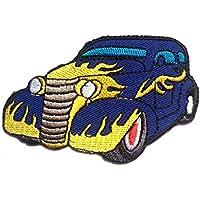 Toppe termoadesive - Bentley Auto - blu - 8.8x5.8cm - Patch Toppa ricamate Applicazioni Ricamata da cucire