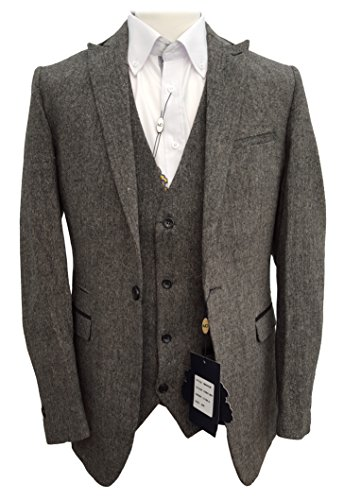 Darcy homme designer marc tweed costume 3 pièces (mason) Gris - Gris