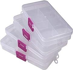 Jianhua 10 Grid Jewellery Box (Pack of 4) - for Home & Locker
