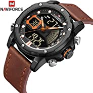 Naviforce Men's Black Dial Genuine Leather Analogue Classic Watch - NF9172L-B