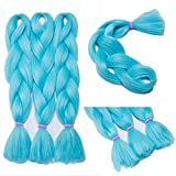 1PACK 24'' Jumbo Braiding Hair Extensions Kanekalons Afro Box Braids Ombre 3 Tone Synthetic Weaving Hair