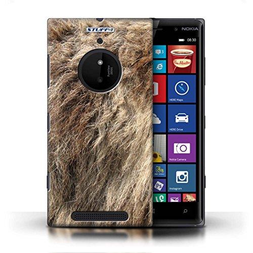 Kobalt® Imprimé Etui / Coque pour Nokia Lumia 830 / Plumes conception / Série Motif Fourrure Animale Loup