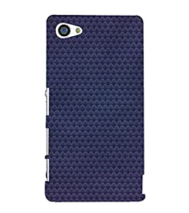 EPICCASE Navy blue patternerd Mobile Back Case Cover For Sony Xperia Z5 Mini / Z5 Compact (Designer Case)