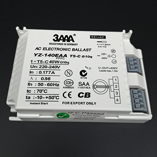 3AAA YZ140EAA-T5-C 40W AC Fluorecent Lamp Electronic Ballast For T5 Ring Lamp Standard Rectifiers, White Color Test