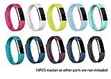 Fitbit Alta Best Deals - JOMOQ Bracelet de remplacement en silicone pour tracker d'activités sans fil Fitbit Alta Bracelet avec boucle de montre sécurisé, .10 Colors Pack, grand