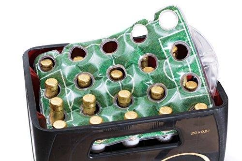 SELAGO Bier Kühler Flaschenkühler Getränkekühler Bierkistenkühler Bierkastenkühler Kühlung für Flaschen Eisform 20x 0,5L 20x 0,33L WM Weltmeisterschaft Edition Inklusive Thermobeutel Made in Germany (Wm-flasche)