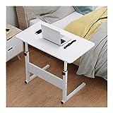 QWERTY Laptop Table Tavolino, Tavolino Laterale da Divano, Impermeabile E Resistente All'umidità, Conveniente E Leggero (Color : White, Size : 58x28x(56-81) cm)