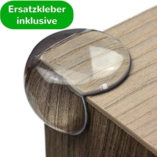 Geprüfter Eckenschutz und Kantenschutz von maliveo - transparent aus Kunststoff für Tisch- und...