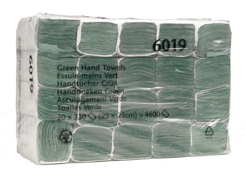 SCOTT * Z-folded hand towel 6019 - 230 1 green layer sheets per package (the box contains 20 packages)
