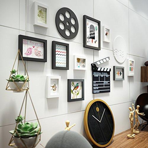 10 Multi cadres photo mis en bois de pin mur moderne photo photo mur cadre pour salon/avec des images/thème du film @The harvest season (Couleur : A)