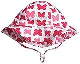 Cappello di Protezione Solare Bambino Piccolo 50+, Misura Adattabile Traspirante con sottogola a strappoq (M:6mesi-3Anni,Farfalla)