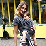 Baby Wrap Carrier All-in-1 Stretchy Baby Wraps Eslingas y envolturas para bebés especializadas para...