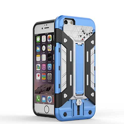 Wkae iphone6 6s 4,7 cas, 2 en 1 nouvelle armure dure style hybride double couche avec armure défenseur pc cas cas] [antichocs iphone6 6s 4,7 Wkae Case Cover ( Color : 9 , Size : Iphone 4.7 ) 6
