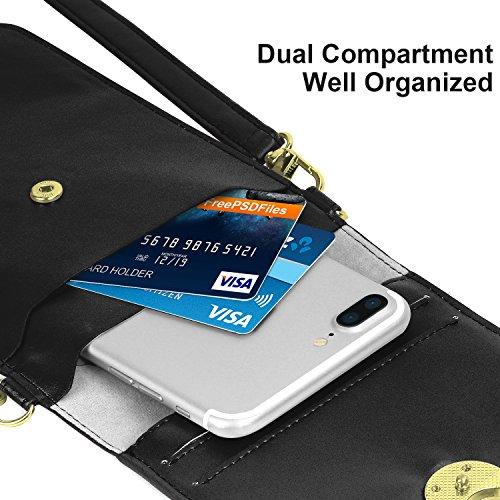 MoKo Bosa a Spalla per Cellurari, Borsello Tracolla Multi-Taschi Universale Fino ad 6 Pollici, per iPhone X / 8 Plus / 8 / 7 Plus / 6s / 6 / 5s / 5c, Samsung Galaxy Note 8 / S8 / S7 Edge �?Rosso Nero