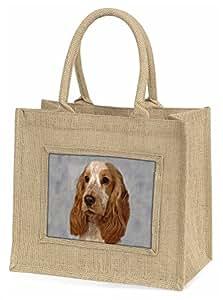 Advanta orange Roan Cocker Spaniel Hund Große Einkaufstasche/Weihnachten Geschenk, Jute, beige/natur, 42x 34,5x 2cm