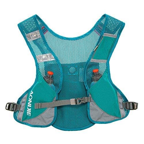 Imagen de aonijie  chaleco y  de hidratación ligero, para actividades al aire libre, senderismo, maratón, escalada, ciclismo, con 2 botellas de 250 ml , azul alternativa