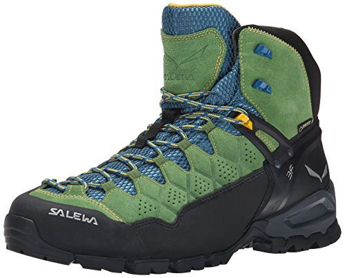 Salewa Alp Trainer Mid Gore-Tex - HALBHOHER Bergschuh Herren, Herren Trekking- & Wanderstiefel, Grün (Treetop/Ringlo 5581), 41 EU (7.5 Herren UK)