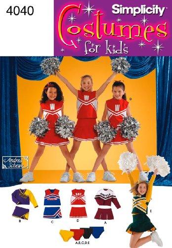 Simplicity Schnittmuster 4040AA Kind und Mädchen (Cheerleader Kostüm Muster)