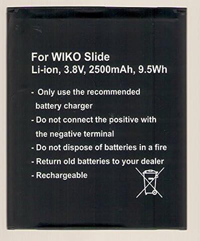 Batterie Wiko Slide, n300Li-Ion 3.8V, 2500mAh, 9.5WH