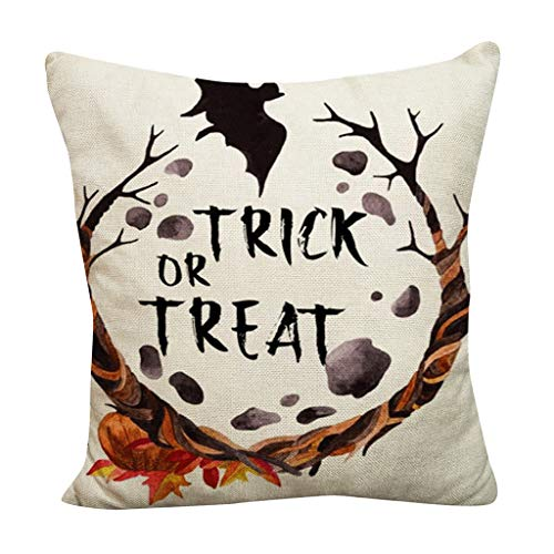 Plus Fledermaus Größe Kostüm - Junjie Halloween Pumpkin Throw Pillow Cover Pillowcases Decorative Sofa Cushion Cover Fledermäuse Plus Cartoon-Kinderavatare schwarz