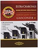 Koh-I-Noor - Carboncini artificiali extra, confezione da 4