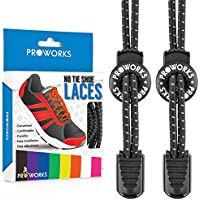 Proworks No Tie Laces | Elastic Easy Tie Shoe Laces for Adults and Kids Running Shoes